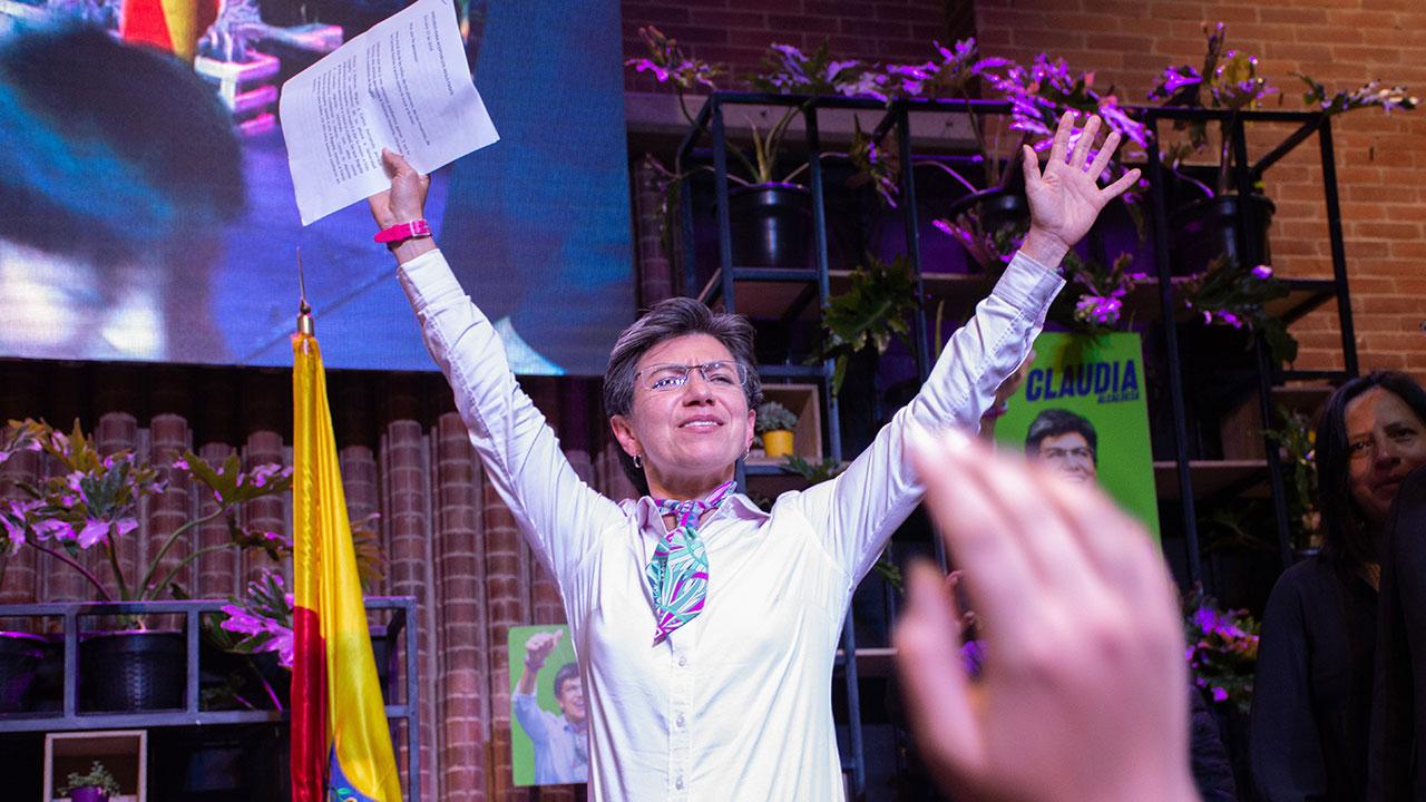Ella es Claudia López, la primera mujer en ser electa alcaldesa de Bogotá