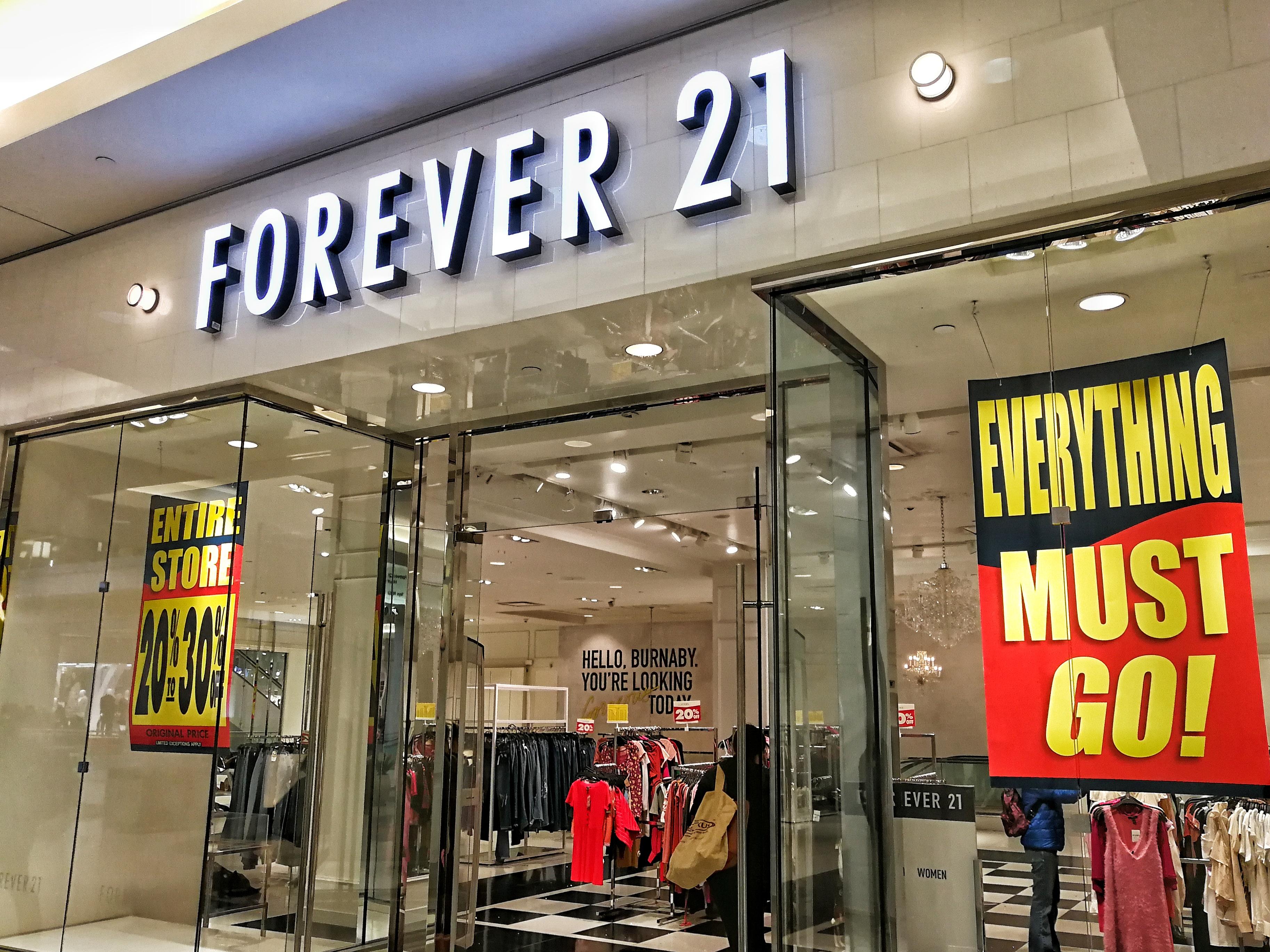 Forever 21 ya comenzó a cerrar tiendas por bancarrota… también en México
