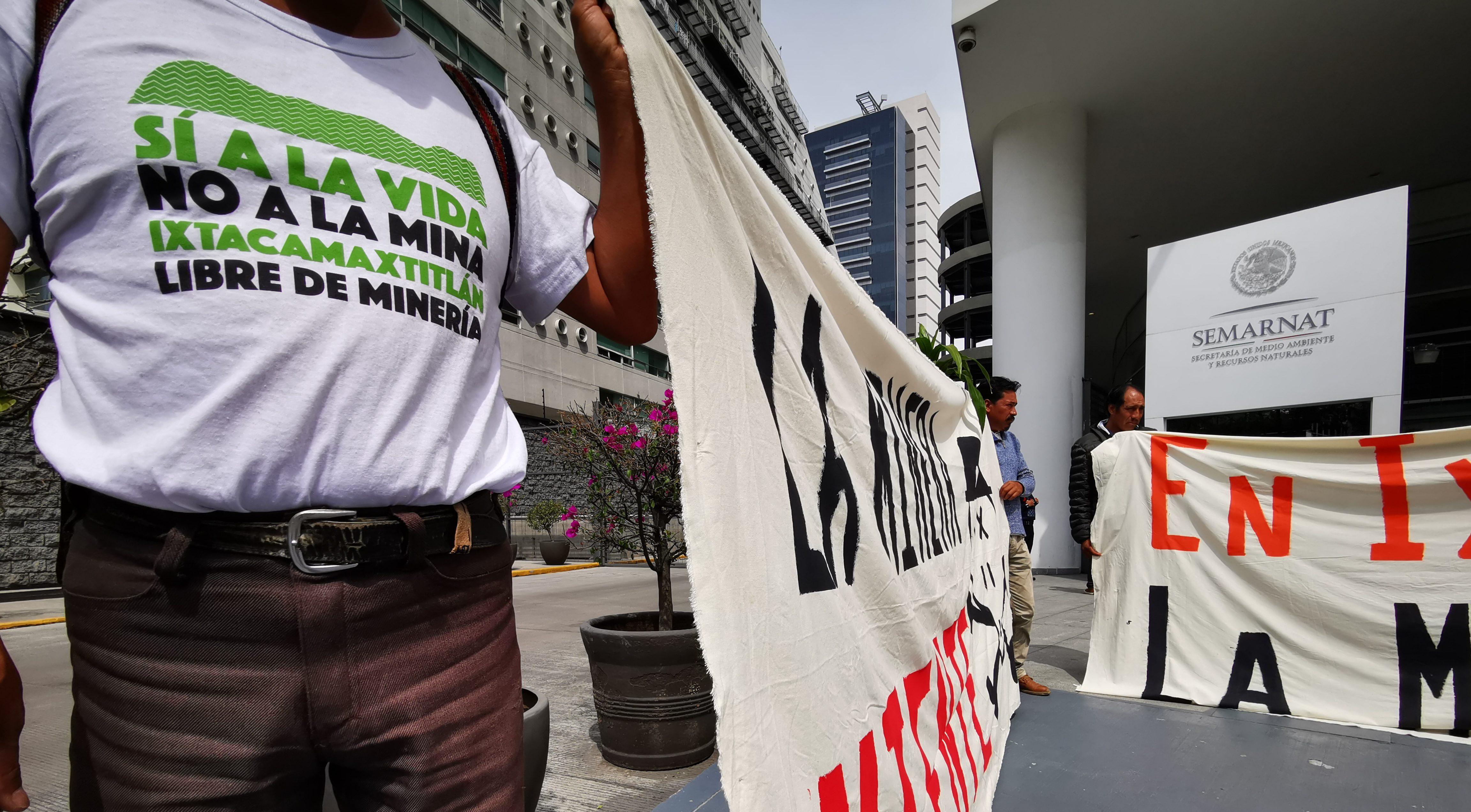 Ejidatarios exigen frenar mina de oro y plata en la Sierra Norte de Puebla
