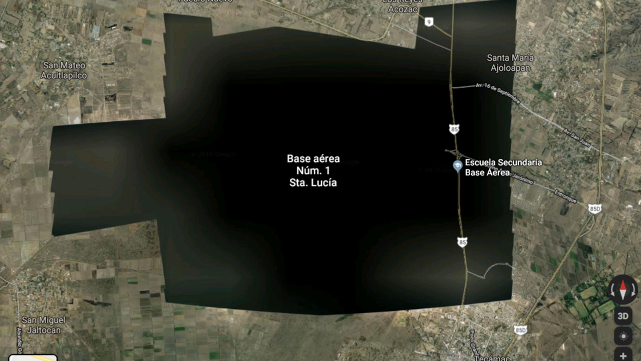 Google Earth 'elimina' imágenes satelitales de Santa Lucía