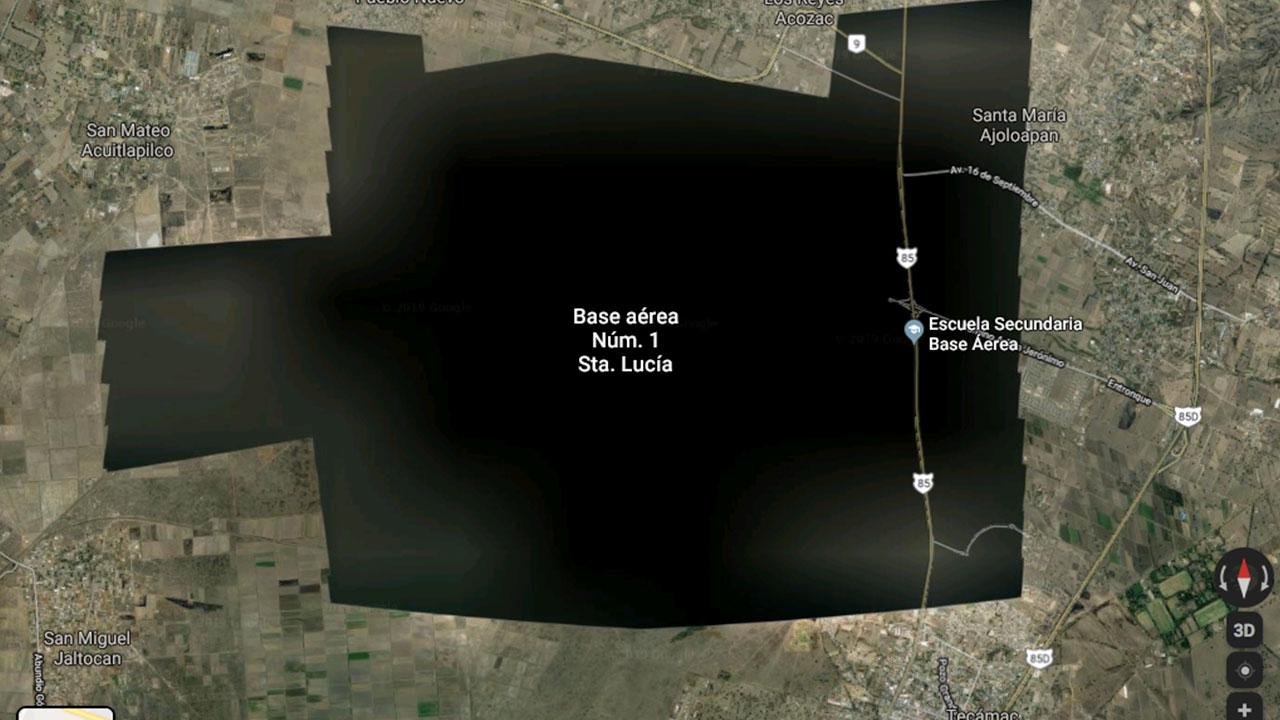 Google Earth 'elimina' imágenes satelitales de la base aérea de Santa Lucía