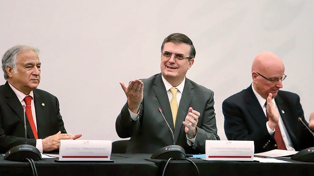 Instalación del Consejo de Diplomacia Turística, encabezada por los Secretarios de Relaciones Exteriores y Turismo, Marcelo Ebrard y Miguel Torruco. México, 11 de julio del 2019. Foto: Notimex.