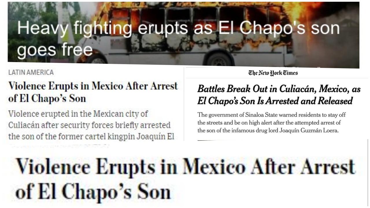 Gobierno de AMLO, humillado: así vio la prensa internacional la liberación de Ovidio Guzmán