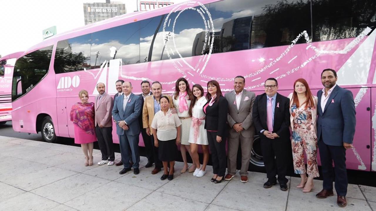 Caravana Rosa ADO ofrece 1,400 mastografías gratuitas