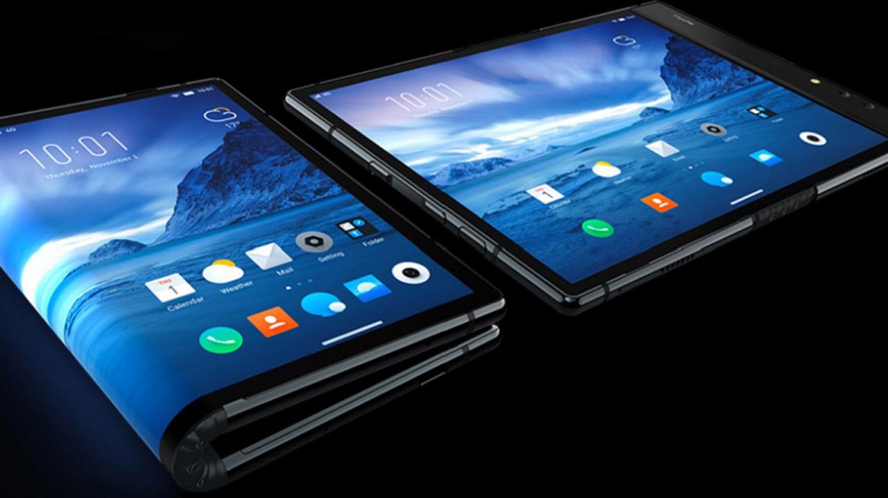 Samsung presenta teléfono que se puede doblar en cuatro