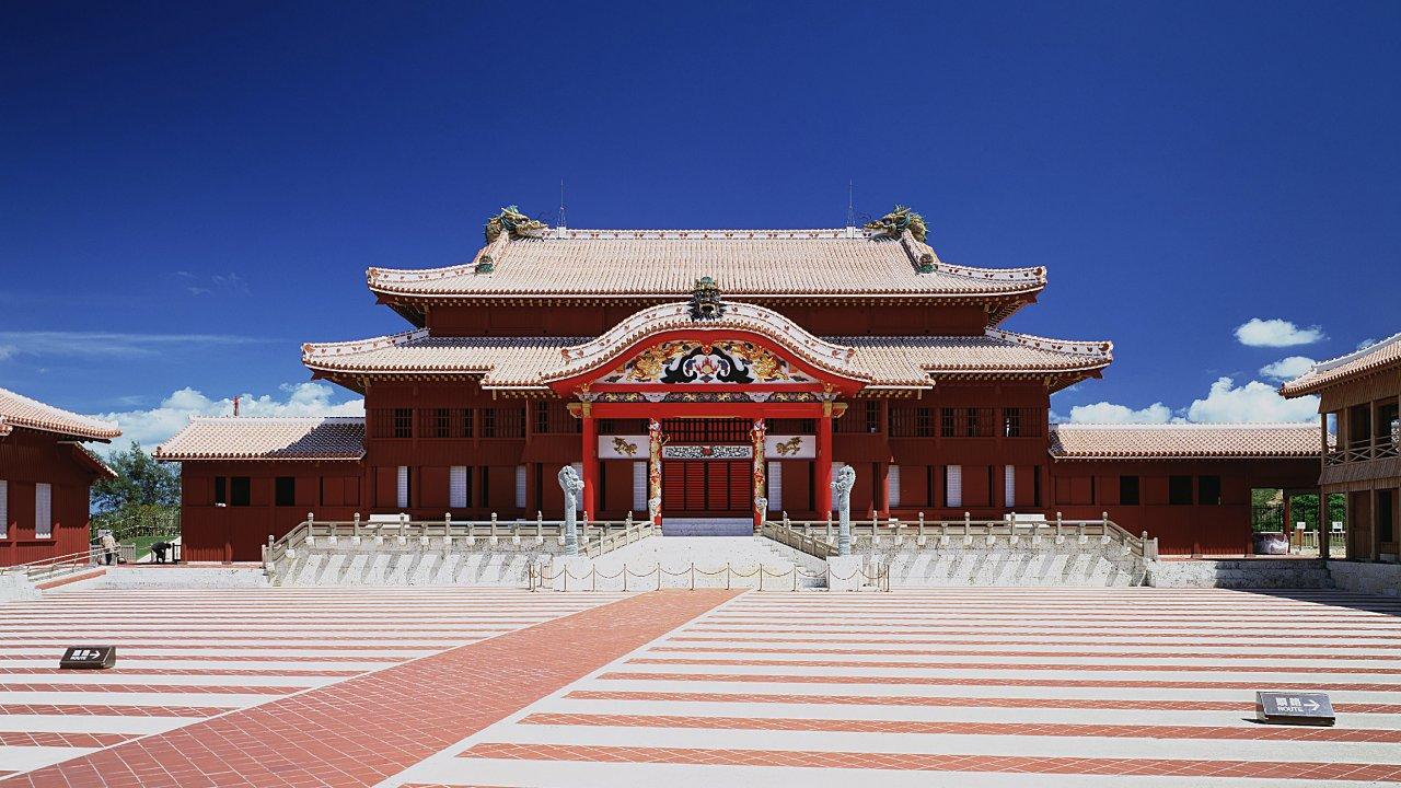 Esta fotografía tomada el 1 de septiembre de 1993 muestra come era el histórico Castillo Shuri. Foto: STR / JIJI PRESS / AFP