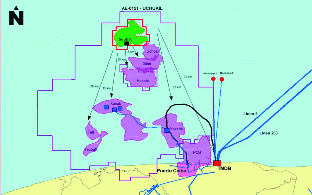 Pemex producirá 12,000 barriles diarios de petróleo con campo prioritario Suuk