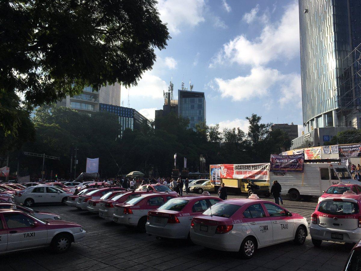 ¿Atrapado por las protestas de taxistas en CDMX? Escapa por estas rutas