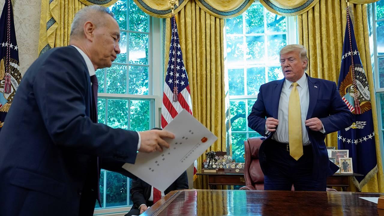 Trump confirma primera fase de acuerdo comercial entre EU y China