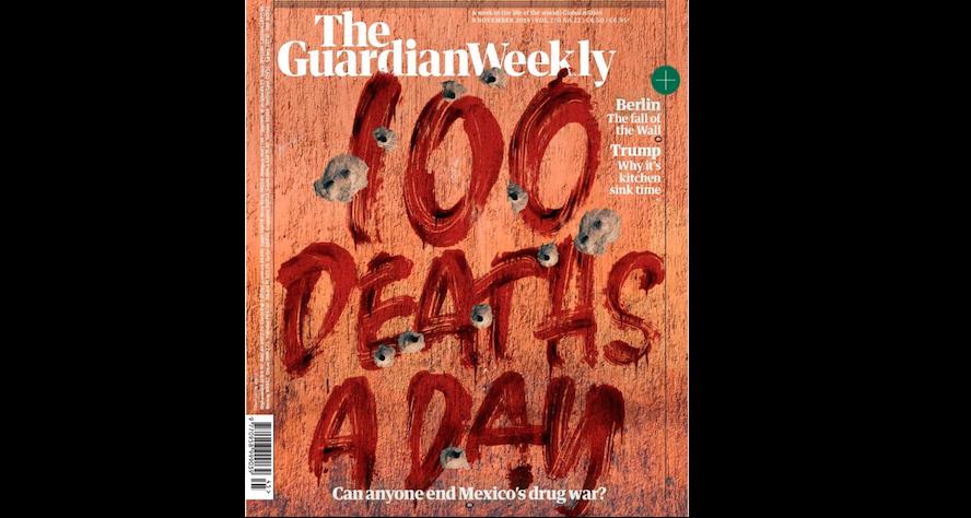 '100 muertos diarios': la dura portada de The Guardian que retrata la violencia en México