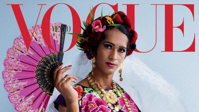 ¡Orgullo mexicano! Mujer muxe luce tradición oaxaqueña en portada de Vogue