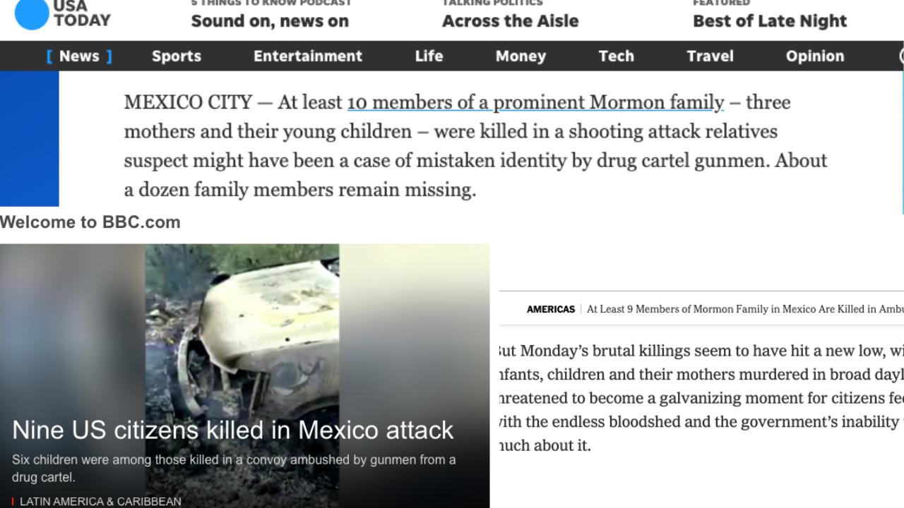 Gobierno de AMLO, incapaz y en crisis, tras ataque a familia LeBarón: prensa internacional