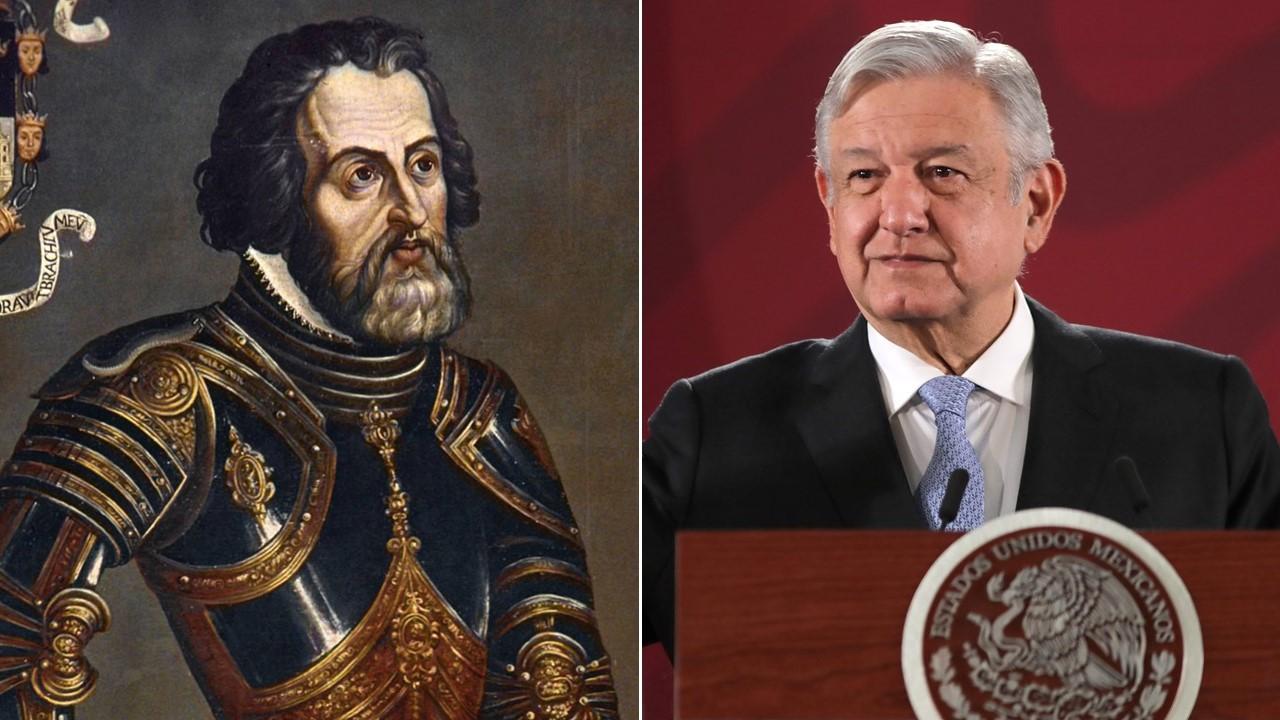 Hernán Cortés cometió el primer fraude: AMLO