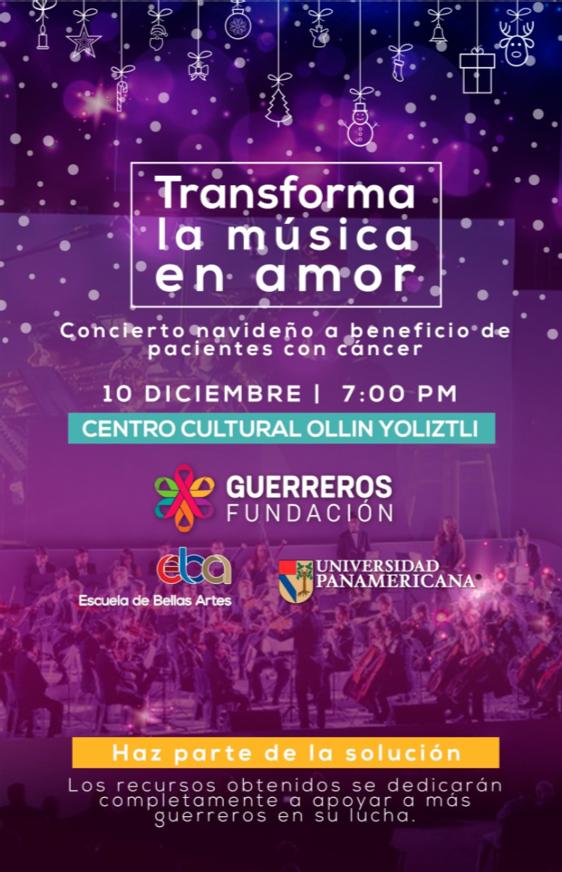 'Transforma la música en amor', un concierto navideño con causa