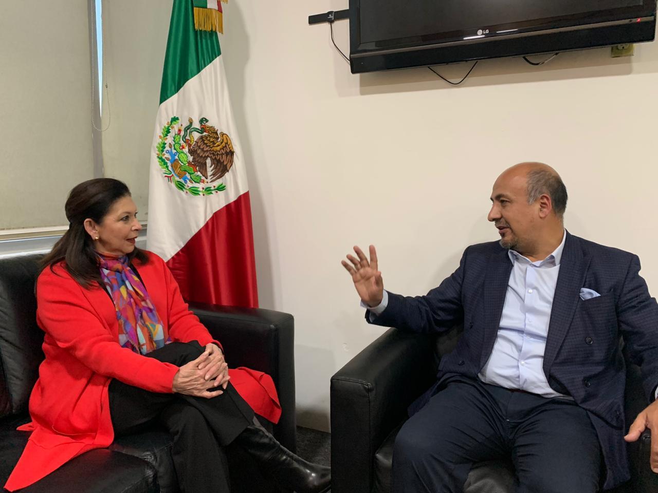 Embajadora expulsada de Bolivia ya se encuentra en México