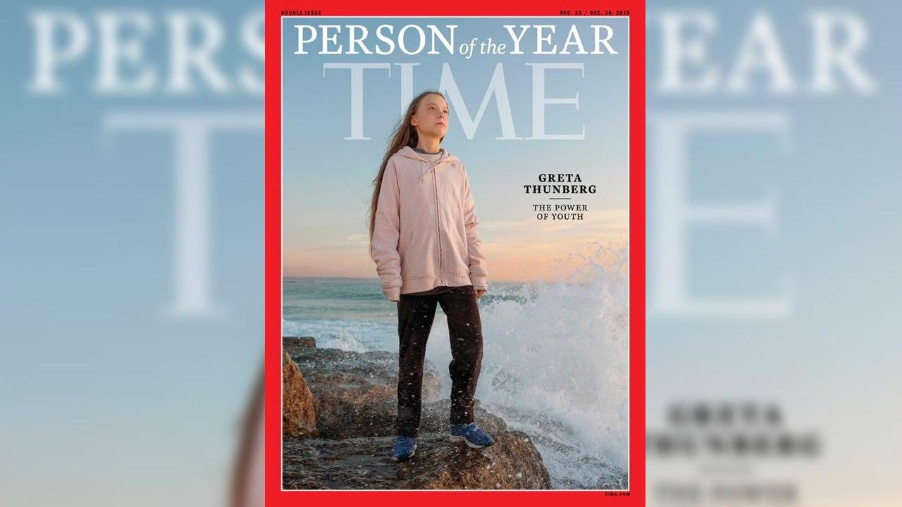 La activista Greta Thunberg, la Persona del Año de Time