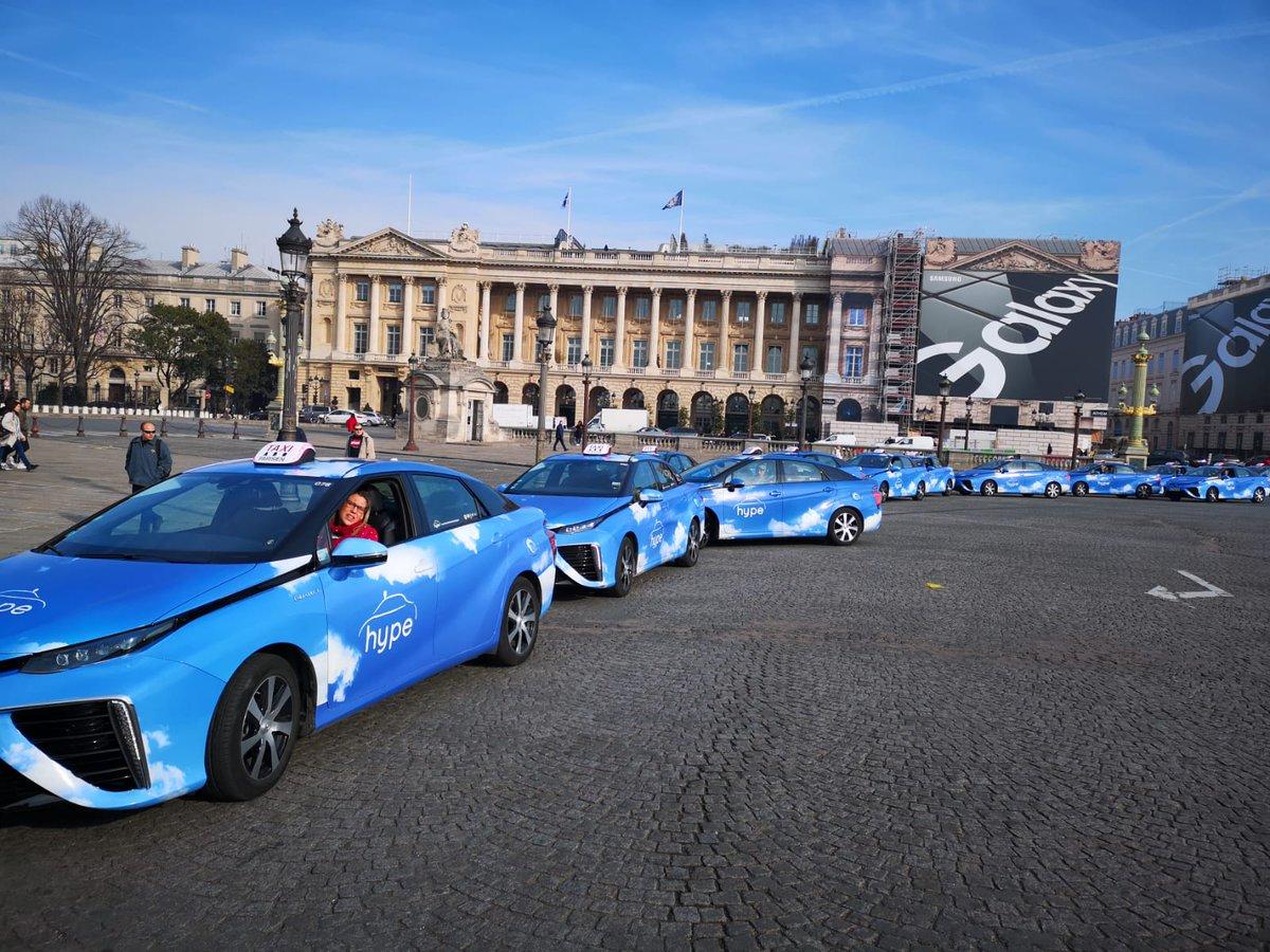 Surge la primera y mayor flota de taxis de hidrógeno del mundo