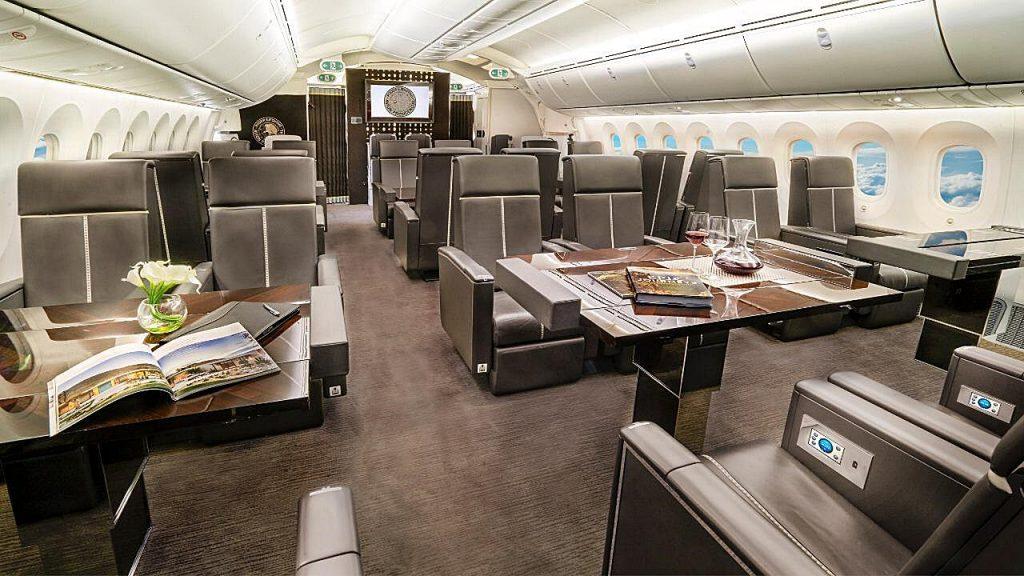 avion presidencial interiores