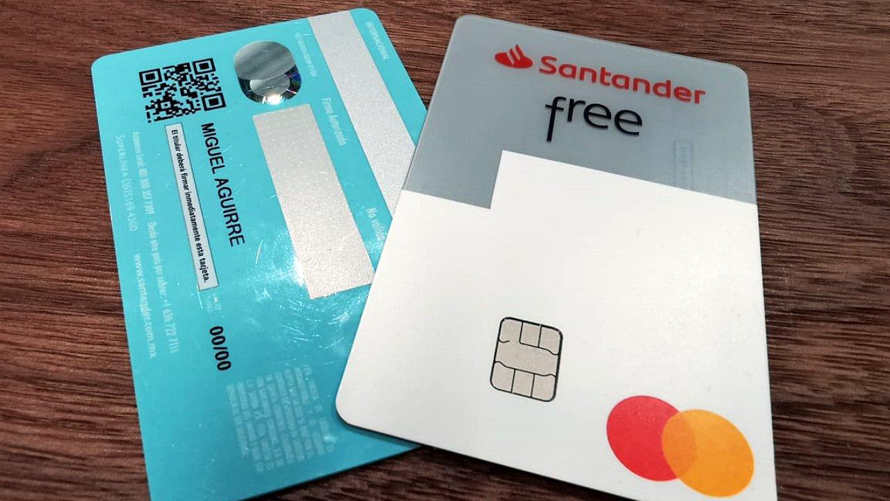 Santander le quita los números a su nueva tarjeta de crédito