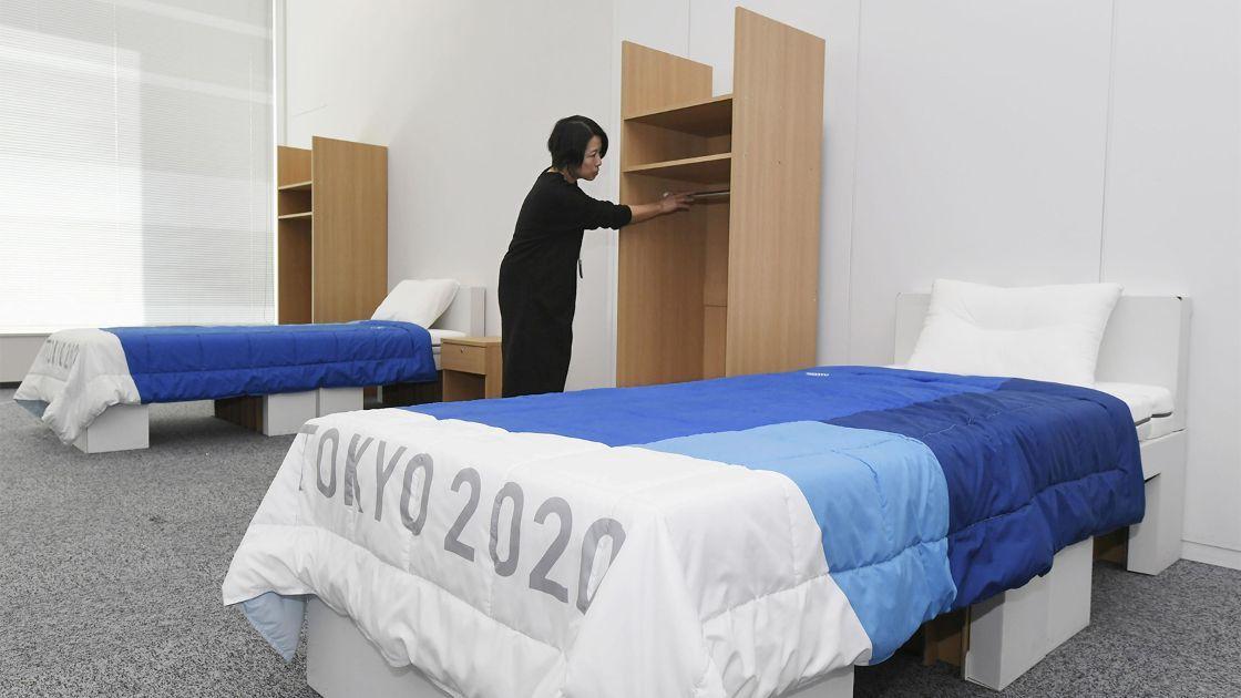 Confort 'olímpico': Atletas de Tokio 2020 dormirán en camas de cartón