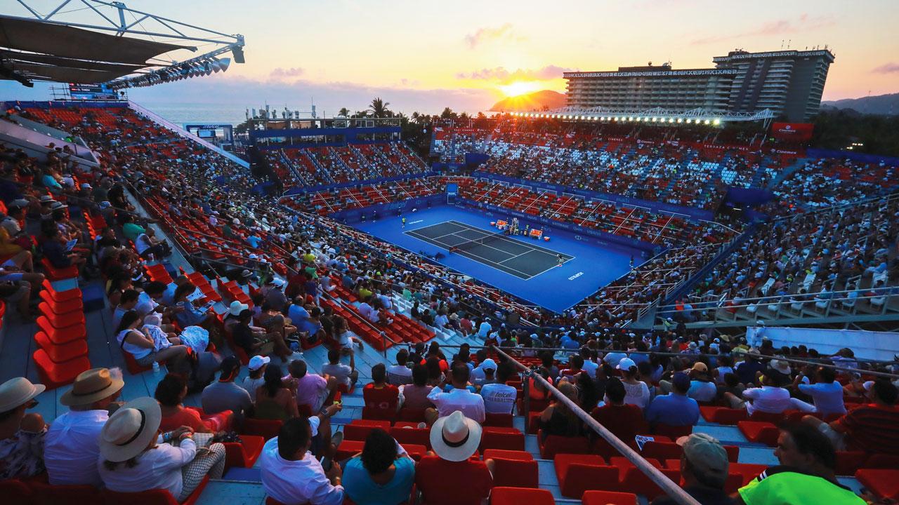 Estadio Mextenis, Abierto mexicano de Tennis, Acapulco, México. Foto: Hector Vivas/Getty Images.