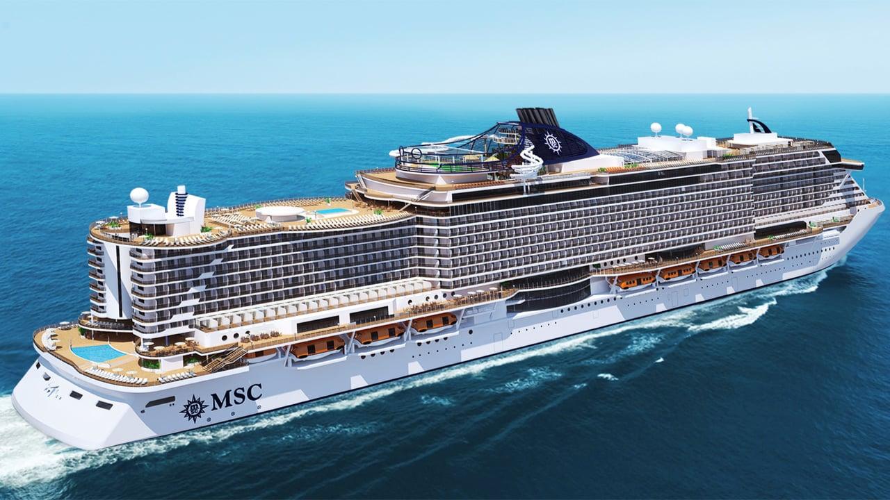 El crucero MSC Meraviglia.