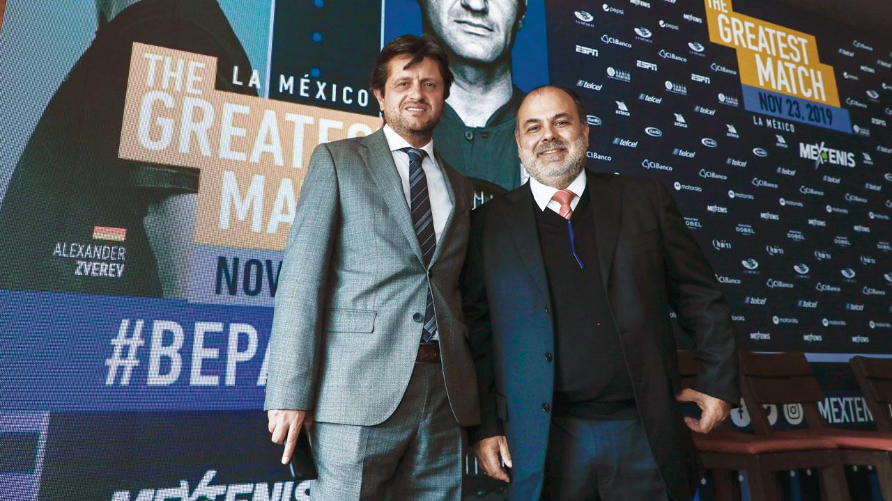 José Antonio Fernández y Raúl Zurutuza. Foto: Jorge Reyes/Mextenis.