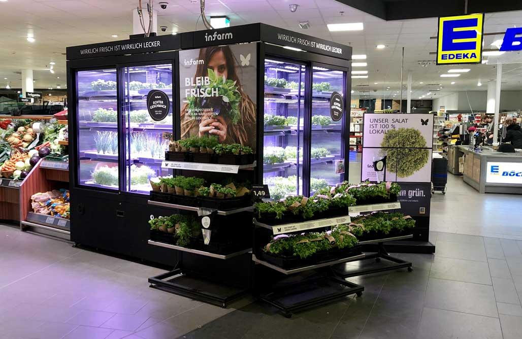Supermercados con huertas 'conectadas' venden verduras frescas y sostenibles