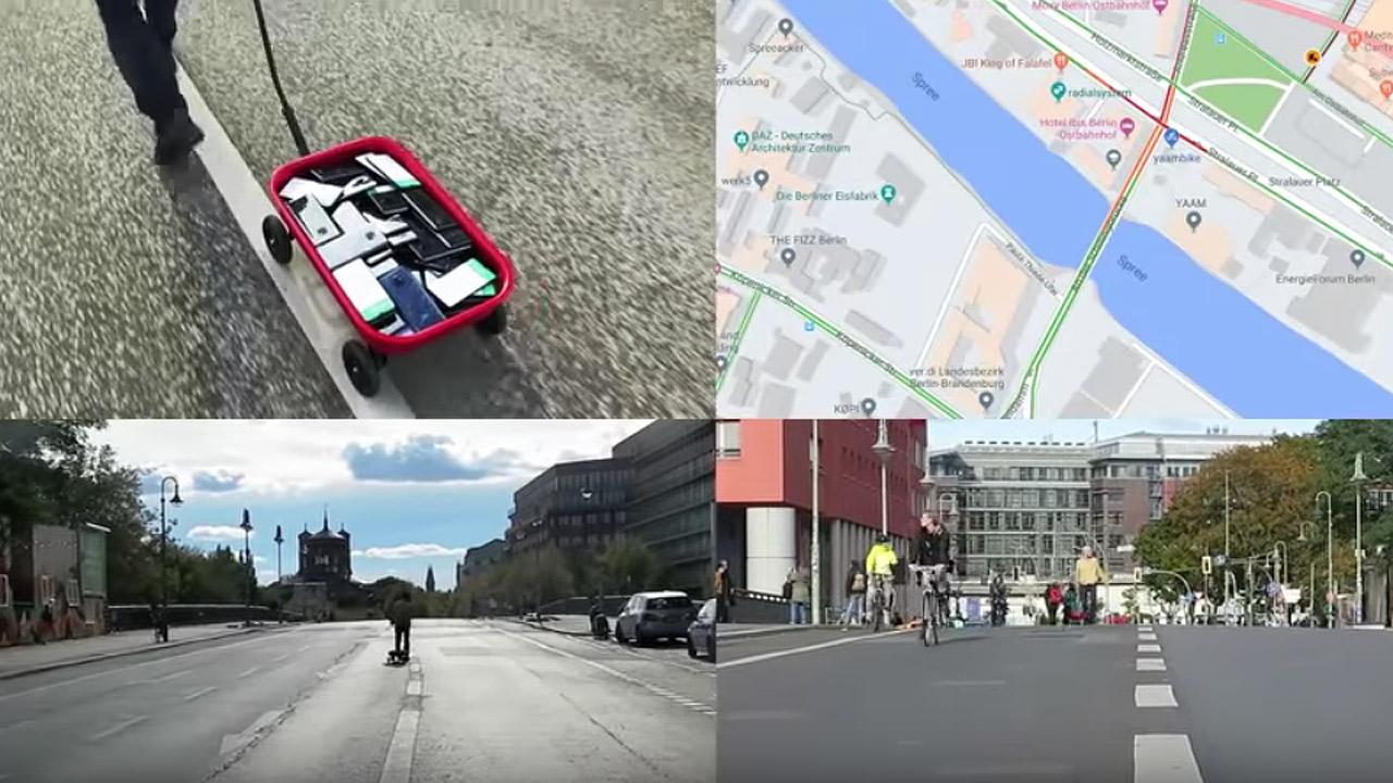 Usan 99 teléfonos para crear un embotellamiento falso en Google Maps