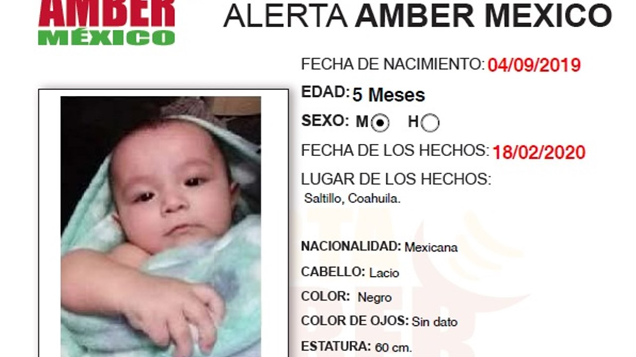 Fiscalía confirma hallazgo de cuerpo de bebé desaparecida en Coahuila