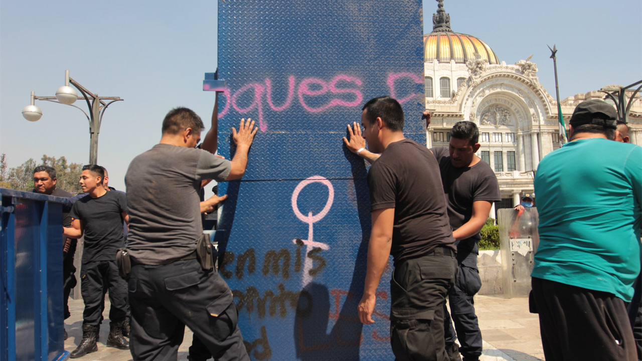bloqueo monumentos centro marchas