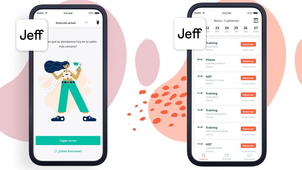 Jeff va por el mercado de las peluquerías y los gimnasios desde su app