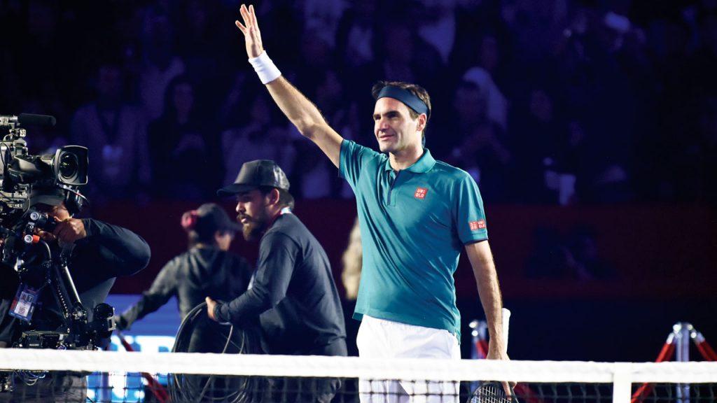 Roger Federer durante su participación en The greatest match, México 2019. Foto: Daniel Hernández para Forbes México.