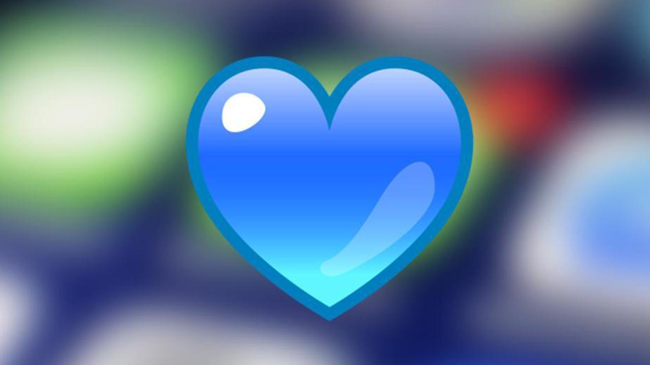whatsapp emoji corazon azul autismo