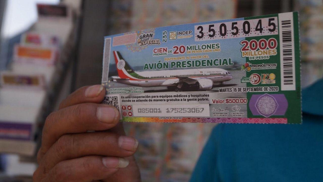 rifa avion presidencial cachito loteria nacional
