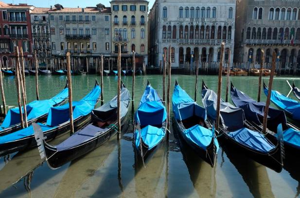 Así quedaron los canales de Venecia luego del 'toque de queda' por coronavirus