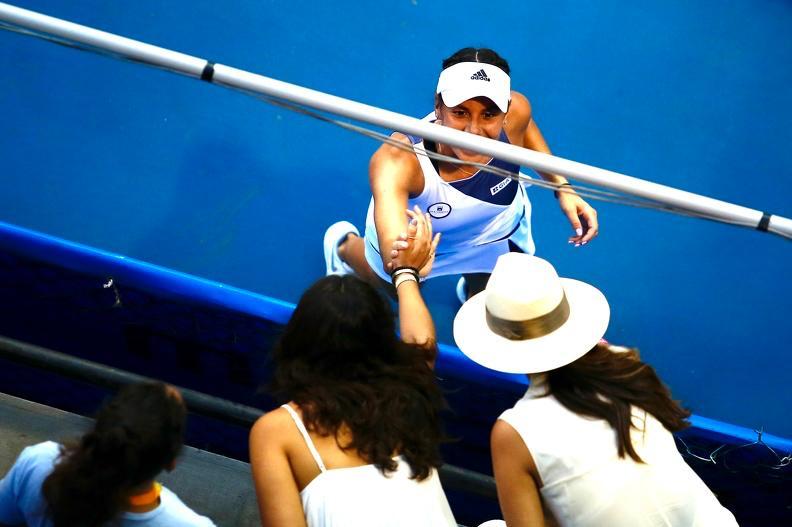 Giuliana Olmos gana por primera vez en el Abierto de Tenis