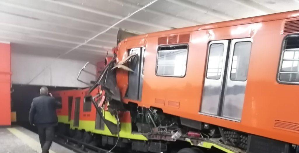 Detienen a presuntos responsables del choque de trenes en Tacubaya