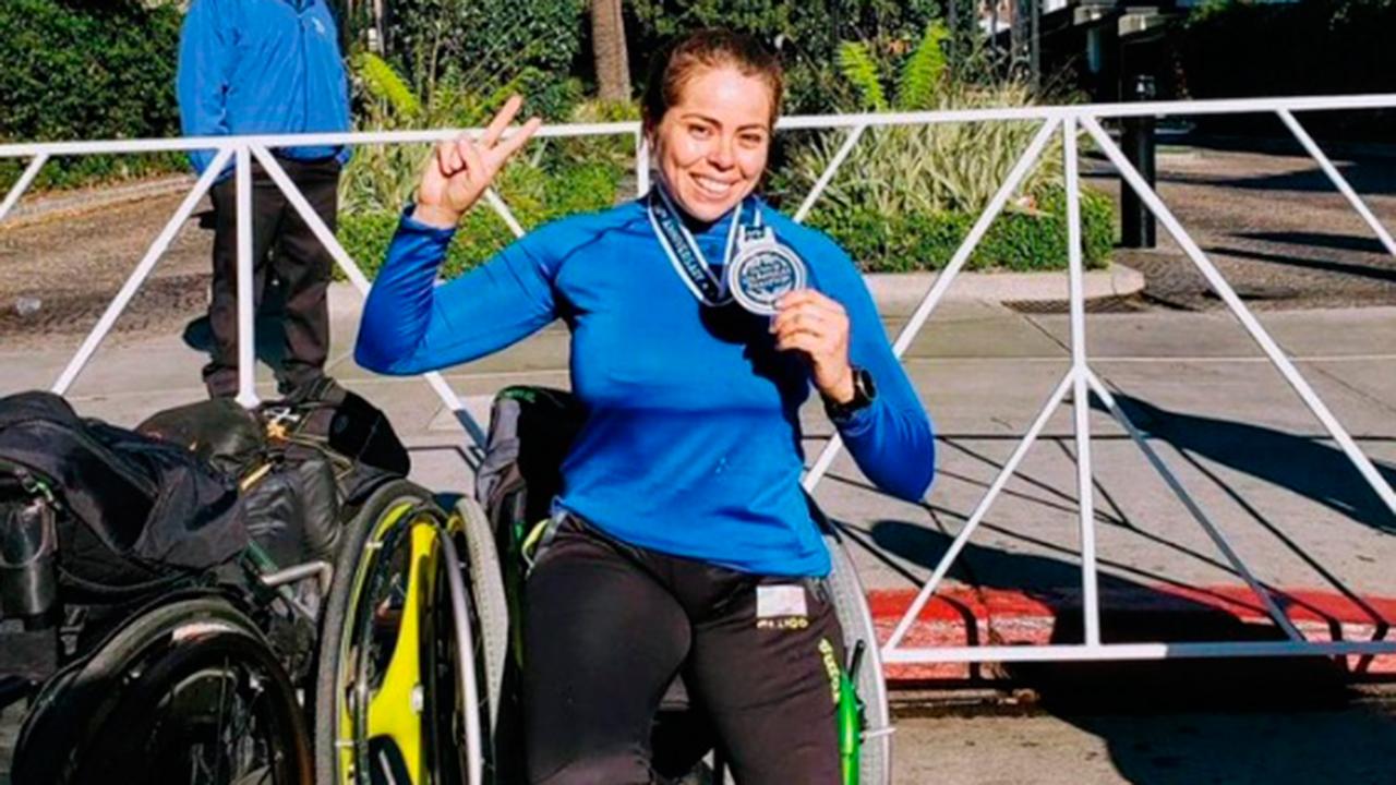 Atleta paralímpica mexicana gana plata en el Maratón de Los Ángeles