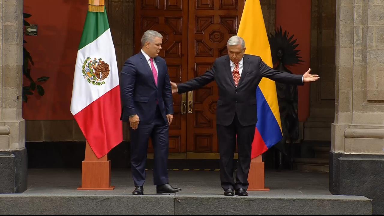 AMLO recibe al presidente de Colombia, Iván Duque