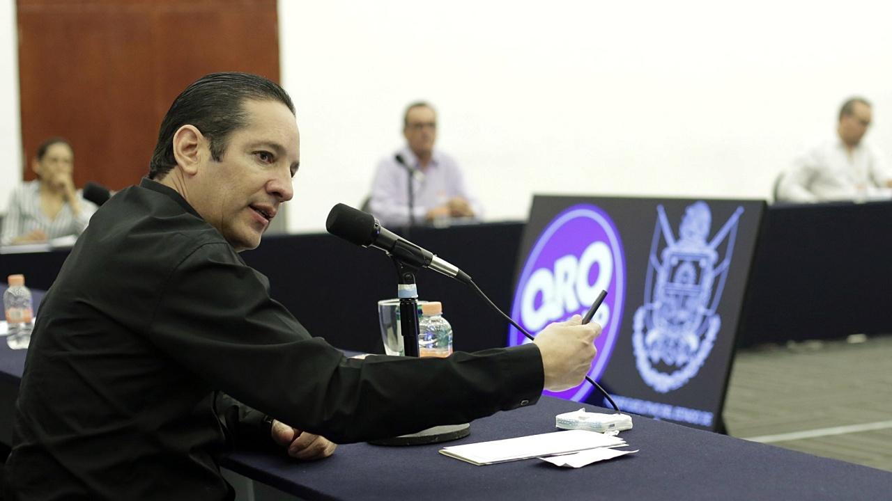Gobernador de Querétaro da positivo a la prueba de Covid-19