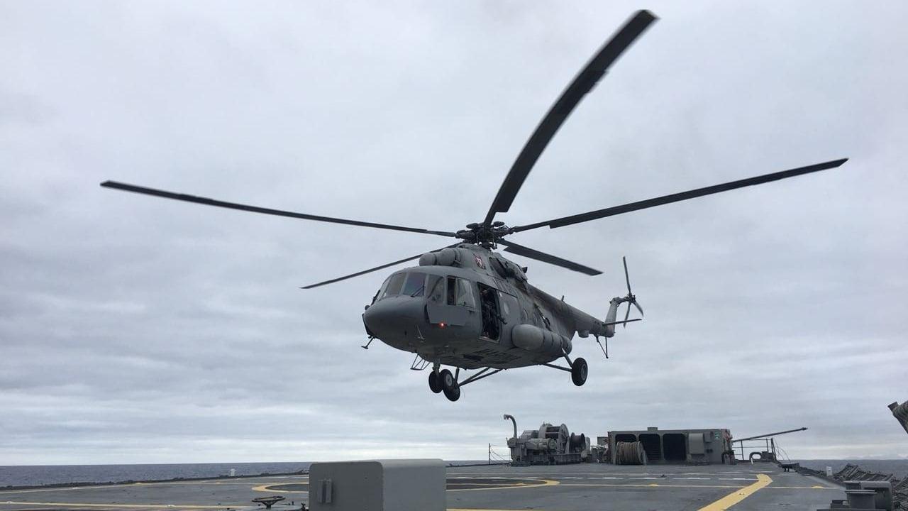 Helicóptero de la Marina se desploma en Veracruz
