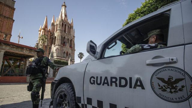 Coronavirus Turismo Guardia Nacional en San Miguel Allende
