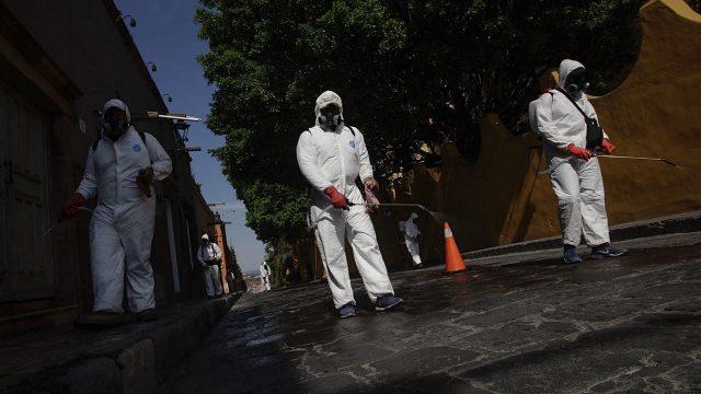 Coronavirus sanitización en San Miguel de Allende