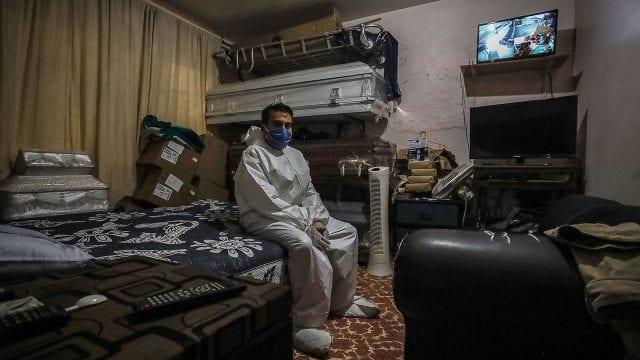 Coronavirus Medidas extremas de sanidad en funeraria