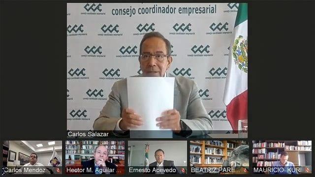 Carlos Salazar Lomeli Conferencia CCE Consejo Coordinador Empresarial