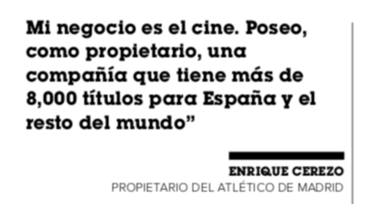 Enrique Cerezo presidente del Atletico de Madrid