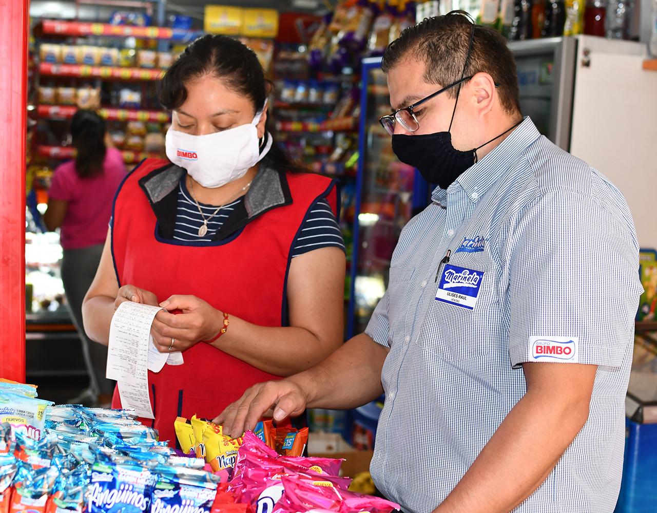 Aporta Grupo Bimbo un millón de cubrebocas para tenderos de todo el país