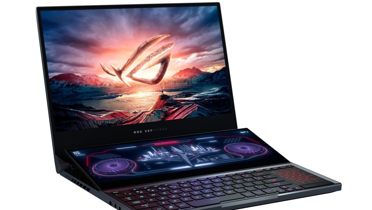 ASUS Republic of Gamers presenta laptops con doble pantalla