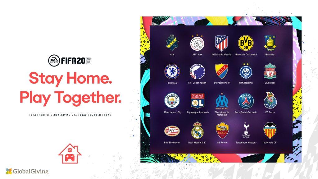 Clubes de futbol europeo FIFA y Electronic Arts